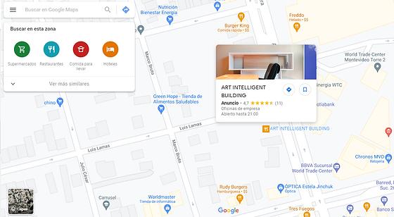 anuncio en displey de google maps plasma