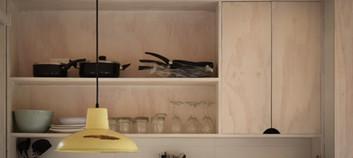 Interior cocina.