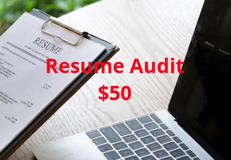 Resume Audit - 50% off!