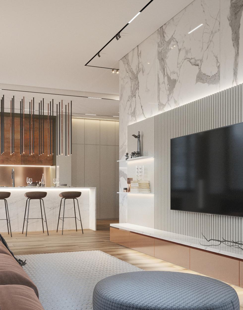 Дизайн интерьера квартиры в Красноярске