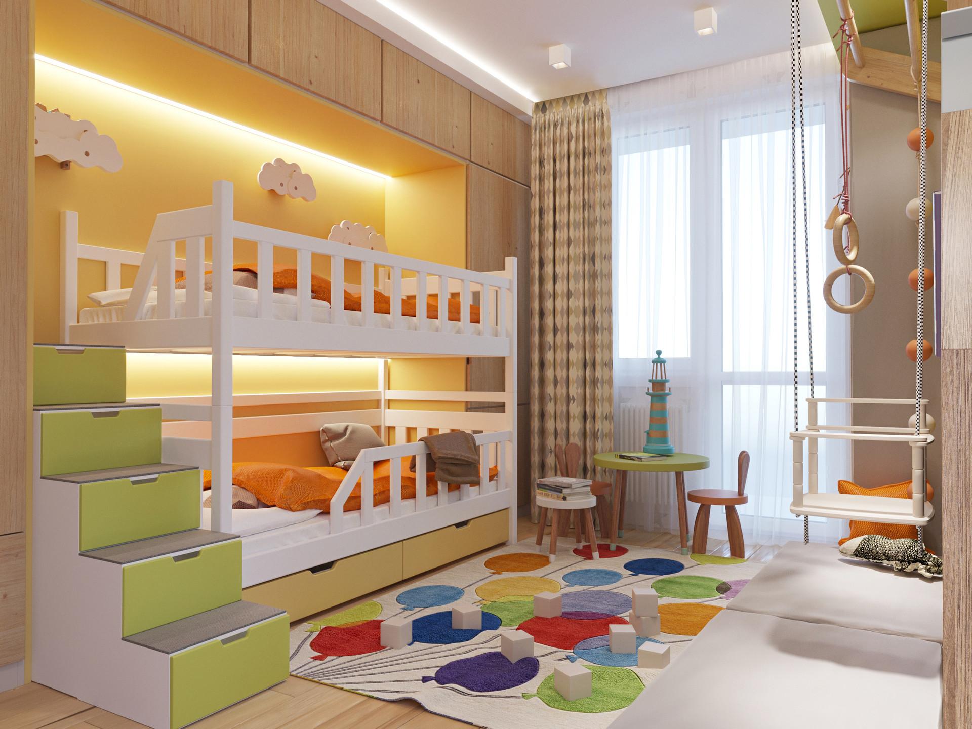 Квартира в ЖК Преображенский, 85 м2. Детская