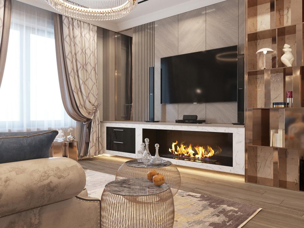 Квартира в Красноярске. Дизайн кухни - гостиной, балкона, спальни, санузла, кабинета.