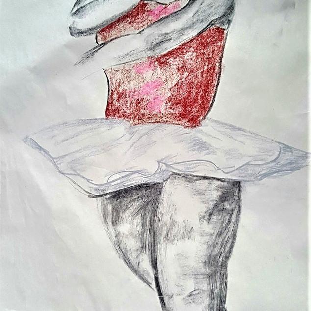 Ballerina III (LD study, drawing on paper