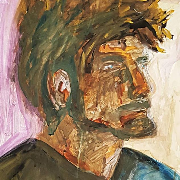 Portrait of a Man with hair & beard