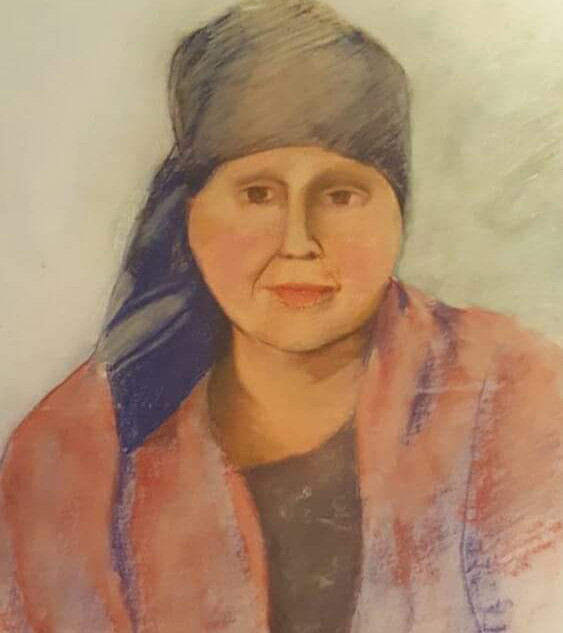 Portrait of a Woman with Headscarfe