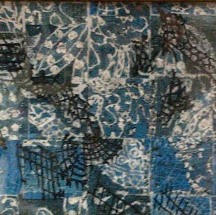 Blue & White Abstract