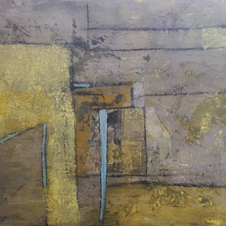 9. Compositon with Yellow and Grey