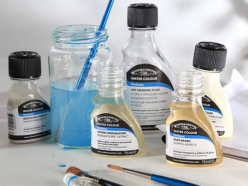 WINSOR & NEWTON PROFESSIONAL WATERCOLOUR ADDITIVES 60ML BOTTLE