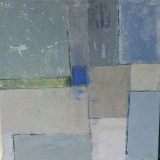 7.  Composition with Blue and Grey