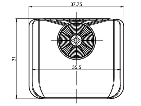 Nomadic Cooling 2000/3000 Dimensions  For A Correct Fit.