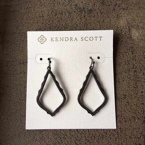 "Kendra Scott ""Sophia"" Dark Pewter Outline Earrings"