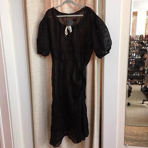 Magnolia Pearl Black Sheer Organza Dress