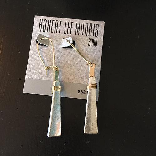 Robert Lee Morris Two-Tone Earrings