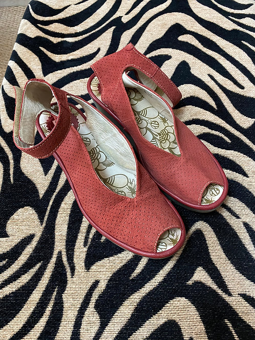 Fly London Dusty Rose Suede Wedge