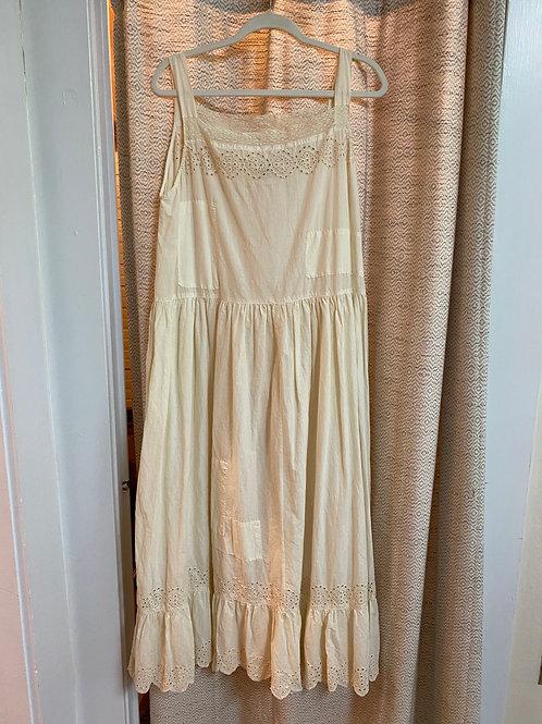 Magnolia Pearl Off-White Cotton Dress