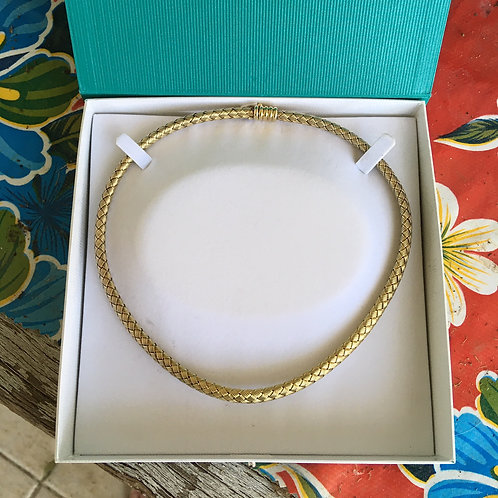 Italian Basket Weave Necklace