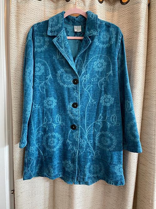 CMC Teal Velvet Jacket