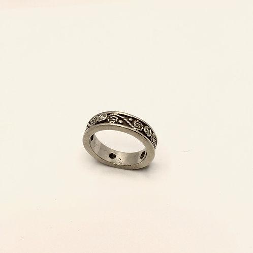 14k White Gold+Diamond Ring