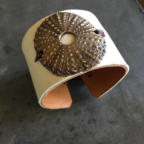 Metal Sea Urchine Leather Bracelet