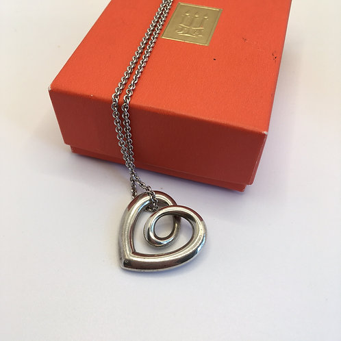 """James Avery """"Heart Strings"""" Pendant+Necklace"""