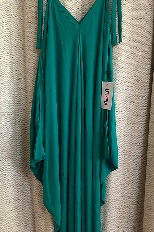 Utopia Emerald Green Dress with Pockets!
