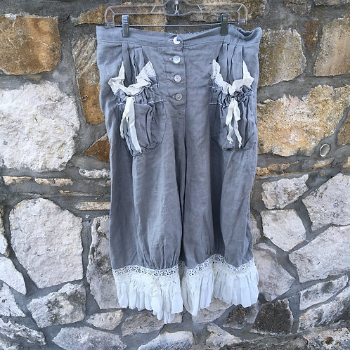 Magnolia Pearl Dove Grey Linen Bloomers