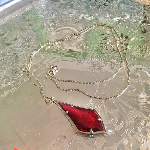 Kendra Scott Cranberry Crystal Pendant