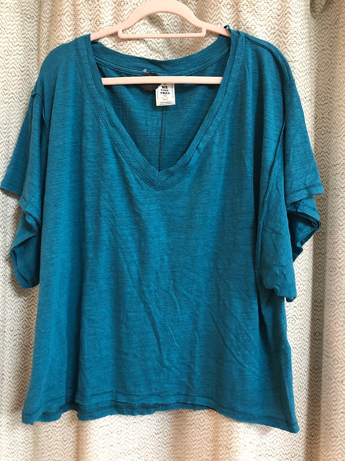 Free People Turquoise Top
