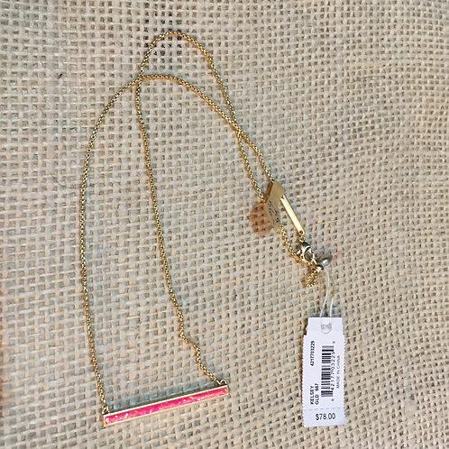 Kendra Scott Coral Bar Necklace