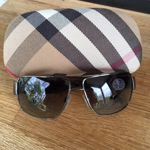 Burberry Silver Metal Sunglasses with Case
