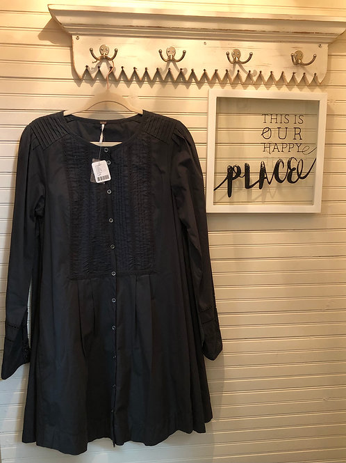 Free People:Black Cotton Dress