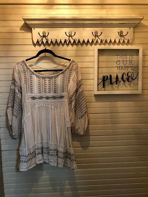 Free People: Striped Puffy Sleeve Top