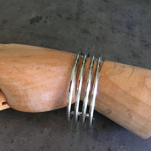Four Band Silver Bracelet