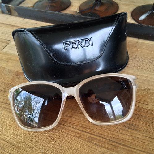 Fendi Cream Sunglasses with Case
