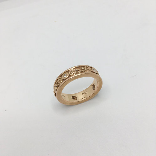 14k Rose Gold+Diamond Ring