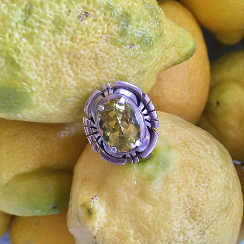 Citrine + Mexican Sterling Silver Ring