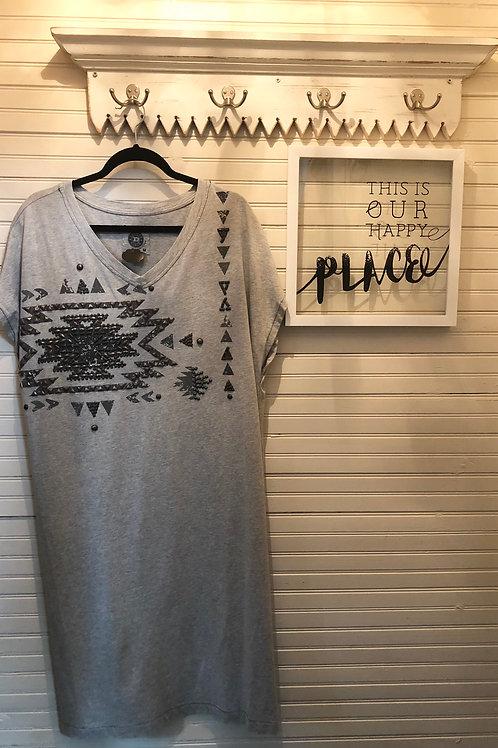 Double D Ranch: Grey Cotton Dress