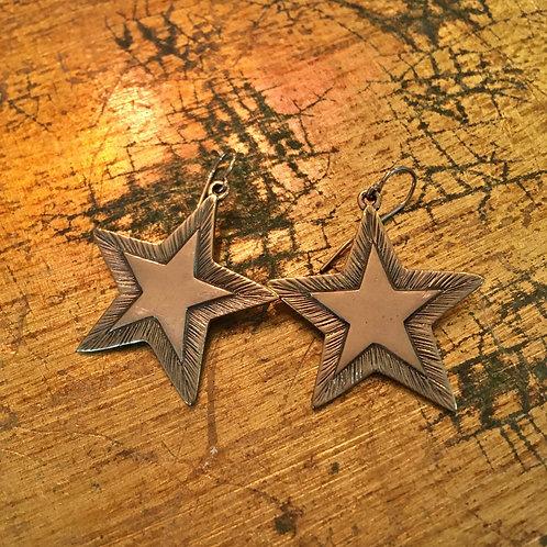 Jeep Collins Brass Star Earrings