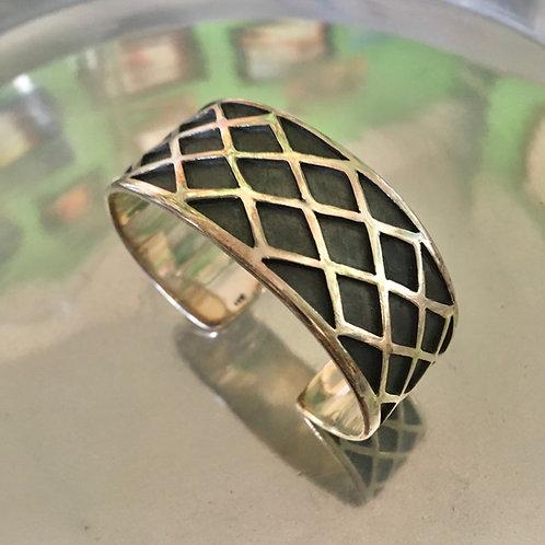 Geometric Oxidized Sterling Silver Bracelet