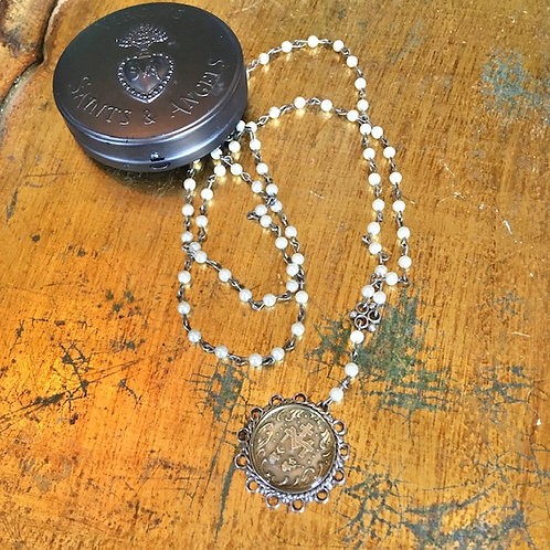 Virgins, Saints and Angels: Pearl Rosary