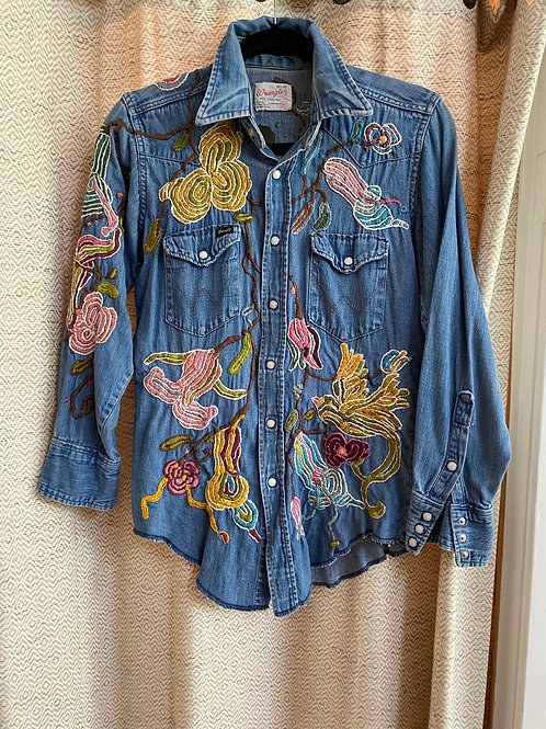 "Magnolia Pearl [One-of-a-Kind] ""Gypsy Johnny"" Embroidered Top"