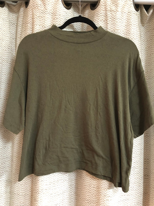 Free People Olive Green Mid-Crop