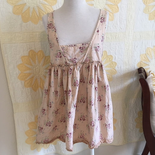 "Magnolia Pearl ""Lilou"" Rasberry Rose Babydoll Top"