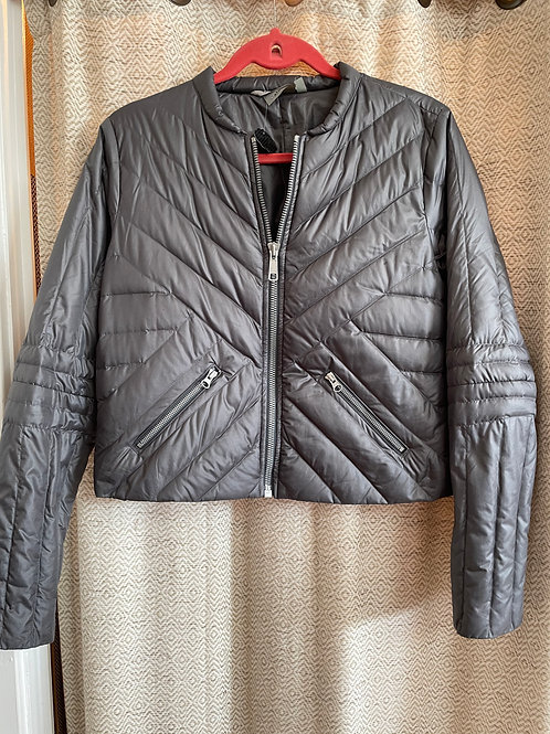 Athleta Short Grey Puffy Jacket