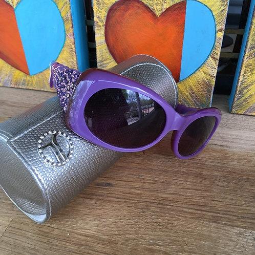 Judith Leiber Rhinestone Sunglasses