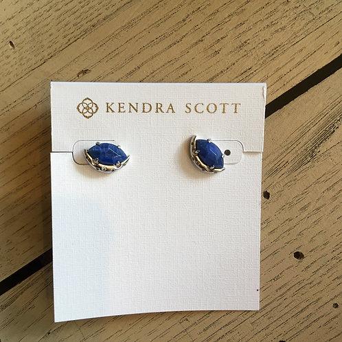Kendra Scott Faceted Blue Stone Stud Earrings