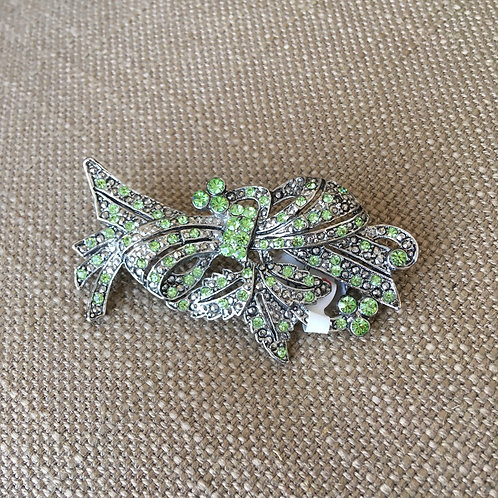 Crystal Scroll Pin
