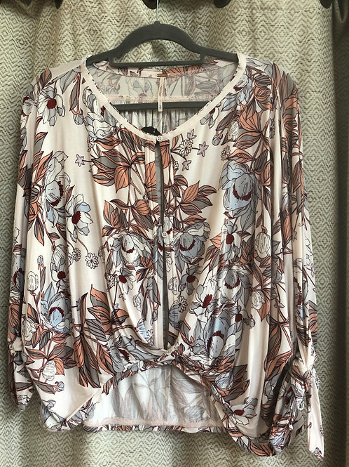 Free People Floral Cotton Blouse