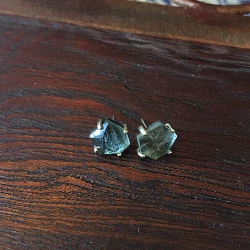 Kendra ScottFaceted Grey Crystal Earrings