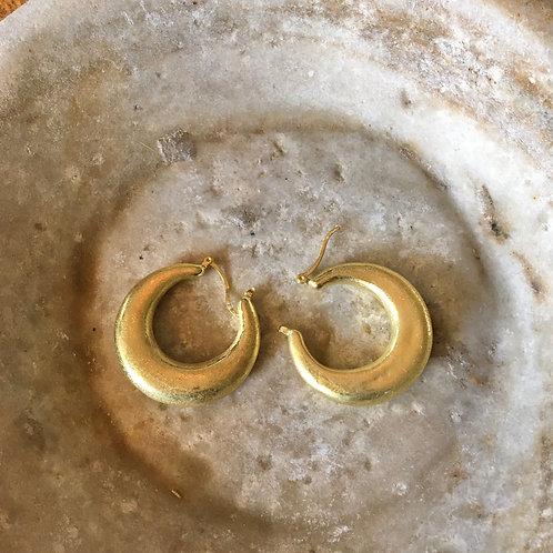 Golden Hollow Hoop Earrings